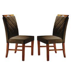 Kit-2-Cadeiras-de-Jantar-Estofada-Marrom-em-Veludo-Kare