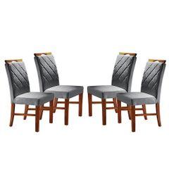 Kit-4-Cadeiras-de-Jantar-Estofada-Cinza-em-Veludo-Kare