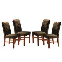 Kit-4-Cadeiras-de-Jantar-Estofada-Marrom-em-Veludo-Kare