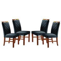 Kit-4-Cadeiras-de-Jantar-Estofada-Azul-em-Veludo-Kare