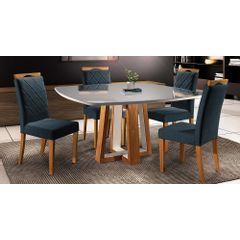 Kit-4-Cadeiras-de-Jantar-Estofada-Azul-em-Veludo-Kare---Ambiente