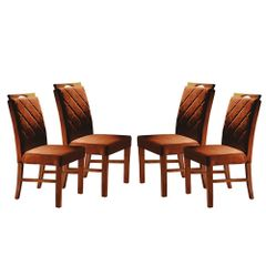 Kit-4-Cadeiras-de-Jantar-Estofada-Ocre-em-Veludo-Kare