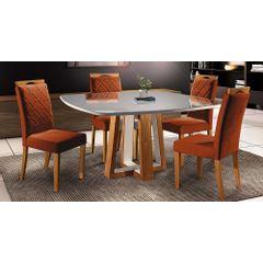 Kit-4-Cadeiras-de-Jantar-Estofada-Ocre-em-Veludo-Kare---Ambiente