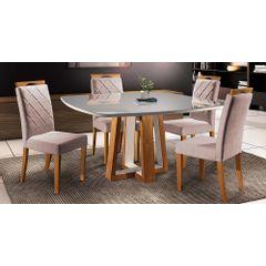 Kit-6-Cadeiras-de-Jantar-Estofada-Rose-em-Veludo-Kare---Ambiente