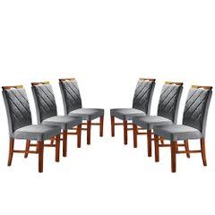 Kit-6-Cadeiras-de-Jantar-Estofada-Cinza-em-Veludo-Kare