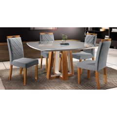 Kit-6-Cadeiras-de-Jantar-Estofada-Cinza-em-Veludo-Kare---Ambiente