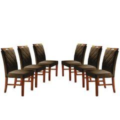 Kit-6-Cadeiras-de-Jantar-Estofada-Marrom-em-Veludo-Kare