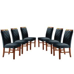Kit-6-Cadeiras-de-Jantar-Estofada-Azul-em-Veludo-Kare