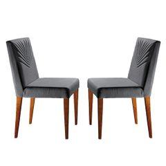Kit-2-Cadeiras-de-Jantar-Estofada-Cinza-em-Veludo-Kurs
