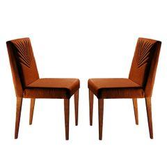 Kit-2-Cadeiras-de-Jantar-Estofada-Ocre-em-Veludo-Kurs