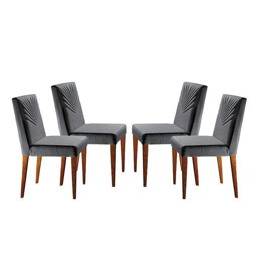 Kit-4-Cadeiras-de-Jantar-Estofada-Cinza-em-Veludo-Kurs