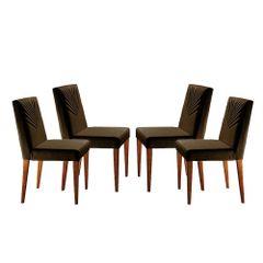 Kit-4-Cadeiras-de-Jantar-Estofada-Marrom-em-Veludo-Kurs