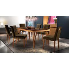 Kit-4-Cadeiras-de-Jantar-Estofada-Marrom-em-Veludo-Kurs---Ambiente