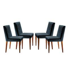 Kit-4-Cadeiras-de-Jantar-Estofada-Azul-em-Veludo-Kurs