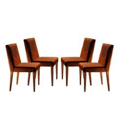 Kit-4-Cadeiras-de-Jantar-Estofada-Ocre-em-Veludo-Kurs