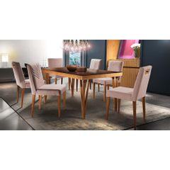Kit-6-Cadeiras-de-Jantar-Estofada-Rose-em-Veludo-Kurs---Ambiente