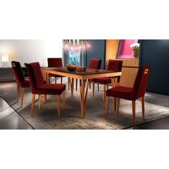 Kit-6-Cadeiras-de-Jantar-Estofada-Bordo-em-Veludo-Kurs---Ambiente