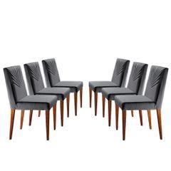 Kit-6-Cadeiras-de-Jantar-Estofada-Cinza-em-Veludo-Kurs