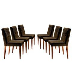 Kit-6-Cadeiras-de-Jantar-Estofada-Marrom-em-Veludo-Kurs