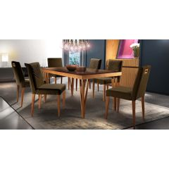 Kit-6-Cadeiras-de-Jantar-Estofada-Marrom-em-Veludo-Kurs---Ambiente