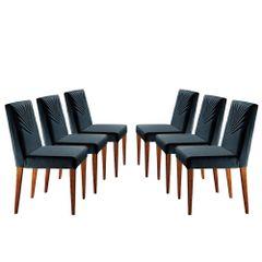 Kit-6-Cadeiras-de-Jantar-Estofada-Azul-em-Veludo-Kurs