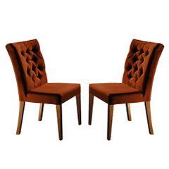 Kit-2-Cadeiras-de-Jantar-Estofada-Ocre-em-Veludo-Sedye