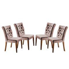 Kit-4-Cadeiras-de-Jantar-Estofada-Rose-em-Veludo-Sedye