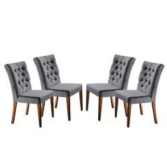 Kit-4-Cadeiras-de-Jantar-Estofada-Cinza-em-Veludo-Sedye