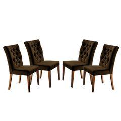 Kit-4-Cadeiras-de-Jantar-Estofada-Marrom-em-Veludo-Sedye