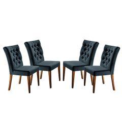 Kit-4-Cadeiras-de-Jantar-Estofada-Azul-em-Veludo-Sedye