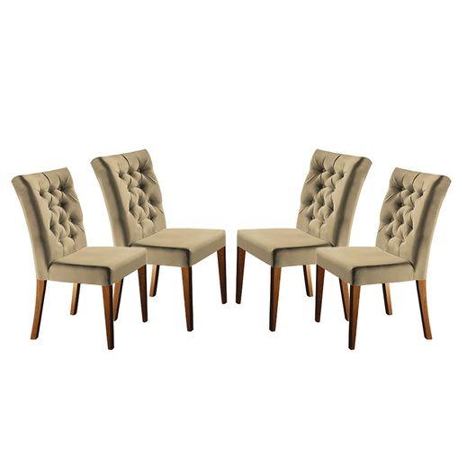 Kit-4-Cadeiras-de-Jantar-Estofada-Bege-em-Veludo-Sedye