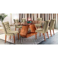 Kit-4-Cadeiras-de-Jantar-Estofada-Bege-em-Veludo-Sedye---Ambiente