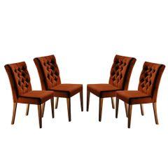 Kit-4-Cadeiras-de-Jantar-Estofada-Ocre-em-Veludo-Sedye