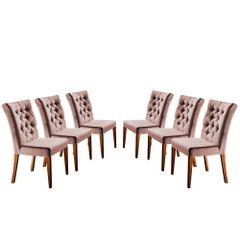 Kit-6-Cadeiras-de-Jantar-Estofada-Rose-em-Veludo-Sedye