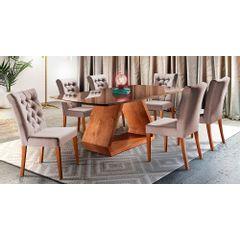 Kit-6-Cadeiras-de-Jantar-Estofada-Rose-em-Veludo-Sedye---Ambiente