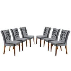Kit-6-Cadeiras-de-Jantar-Estofada-Cinza-em-Veludo-Sedye