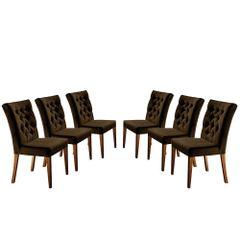 Kit-6-Cadeiras-de-Jantar-Estofada-Marrom-em-Veludo-Sedye