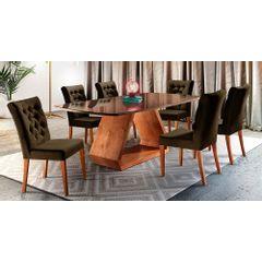 Kit-6-Cadeiras-de-Jantar-Estofada-Marrom-em-Veludo-Sedye---Ambiente
