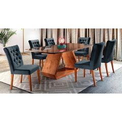 Kit-6-Cadeiras-de-Jantar-Estofada-Azul-em-Veludo-Sedye---Ambiente