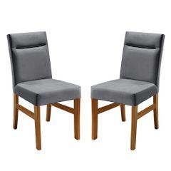 Kit-2-Cadeiras-de-Jantar-Estofada-Cinza-em-Veludo-Temel