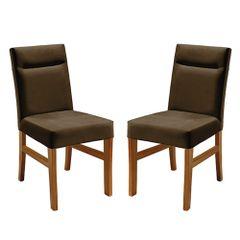 Kit-2-Cadeiras-de-Jantar-Estofada-Marrom-em-Veludo-Temel