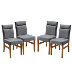 Kit-4-Cadeiras-de-Jantar-Estofada-Cinza-em-Veludo-Temel