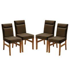Kit-4-Cadeiras-de-Jantar-Estofada-Marrom-em-Veludo-Temel