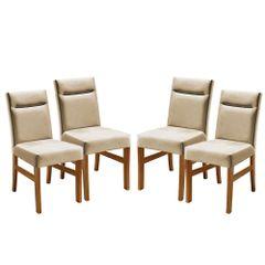 Kit-4-Cadeiras-de-Jantar-Estofada-Bege-em-Veludo-Temel