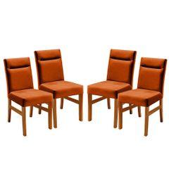 Kit-4-Cadeiras-de-Jantar-Estofada-Ocre-em-Veludo-Temel