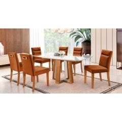 Kit-4-Cadeiras-de-Jantar-Estofada-Ocre-em-Veludo-Temel---Ambiente