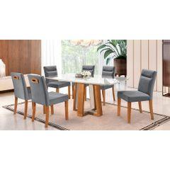 Kit-6-Cadeiras-de-Jantar-Estofada-Cinza-em-Veludo-Temel---Ambiente