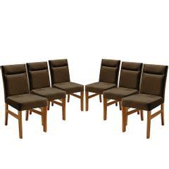 Kit-6-Cadeiras-de-Jantar-Estofada-Marrom-em-Veludo-Temel