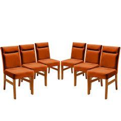 Kit-6-Cadeiras-de-Jantar-Estofada-Ocre-em-Veludo-Temel
