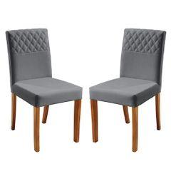 Kit-2-Cadeiras-de-Jantar-Estofada-Cinza-em-Veludo-Yarim